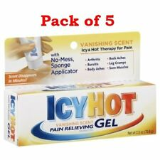 Icy Hot Pain Relieving Vanishing Scent Gel, 2.5 oz tube (PACK OF 5)