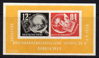 East Germany Miniature Sheet of Stamps c1950 Unmounted Mint Never Hinged (7881)