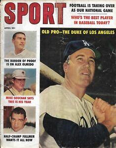 Vintage Sport Magazine, April 1960 issue, Duke Snider HOF (L.A. Dodgers) cover