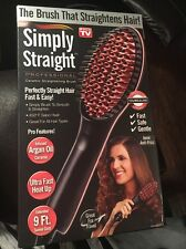 New AS SEEN ON TV - SIMPLY STRAIGHT CERAMIC STRAIGHTENING BRUSH