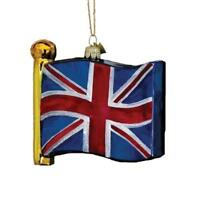 Kurt Adler United Kingdom UK Great Britain Flag Glass Christmas Tree Ornament