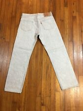 LEVI STRAUSS & CO 501 MENS STRAIGHT JEANS TAG 36X34 ACTUAL SIZE 33W x 31L VGC