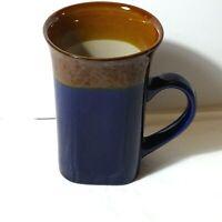Royal Norfolk Coffee Cup Mug Tall Blue & Brown Square Shape