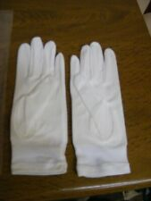Vintage 1950s childrens nylon white gloves old shop stock unused age 4-8 years
