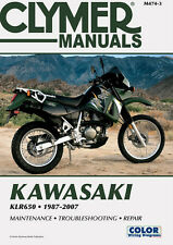 Clymer Repair Service Shop Manual Vintage Kawasaki KLR650 87,88,89,90,91,92-07