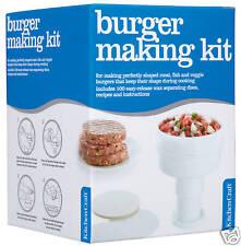 Kitchen Craft PEZ Pastel Ternera / Judía / Vegetariano Hamburguesa maker kit +