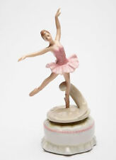 ♫ New MUSIC BOX Porcelain BALLERINA DANCE GIRL Spinning MUSICAL FIGURINE Pink