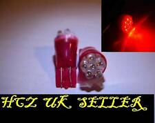 5x 6Leds Ford Focus MK1 1.6 501 W5W LED Red 3rd Brake Lights Upgrade Rear Lamps