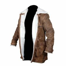 BANE 100% REAL COW-HIDE LEATHER TRENCH COAT JACKET - THE DARK KNIGHT RISES