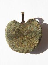 Sahara Desert NWA 869 Polished Stone Meteorite Heart Shaped Pendant Crusted Back