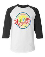 Accept Understand Love Autism Awareness Circle Raglan Baseball Puzzle Shirts