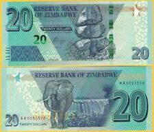 Zimbabwe-Billete de 2019 dólares 20 UNC