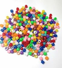 Beads Assorted Coloured Plastic Pony Barrel Beads  Pack of 1000 CT2280
