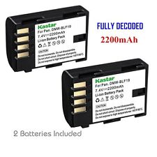 2x Kastar Battery for Panasonic Lumix DMW-BLF19 DMC-GH3 DMC-GH4 DC-GH5