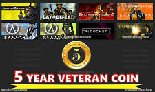 13 Year Old 7 Digit Steam  New Unused + OE For CSGO (5 Year Veteran Coin)