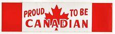 1970s PROUD TO BE CANADIAN Bumper Sticker CANADA FLAG Ontario QUEBEC Alberta