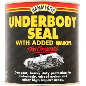 Hammerite Underbody Underseal Seal Rust Protection Waxoyl Black 1 Litre