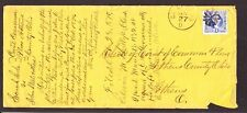 US 115 6c Washington on Cover Carrying Legal Docs from Gallipolis to Athens, OH