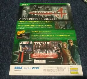 Official The House Of The Dead 4 Arcade Game Flyer ad Japanese import 2005