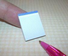 "Miniature La Rocco Pad of Graph Paper, 3/4"" x 15/16"": DOLLHOUSE Miniatures 1/12"