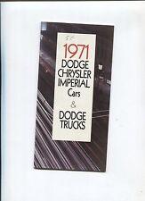 N°7296 / catalogue gamme CHRYSLER CANADA 1971