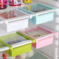 1PC Kitchen Fridge Freezer Space Saver Slide Organizer Storage Rack Shelf Holder
