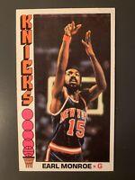 1976-77 Topps #98 Earl Monroe New York Knicks HOF