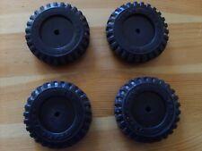 press steel toys,4 PREMIUM RUBBER TONKA TOY BLACK-WALL SCRIPT TIRES