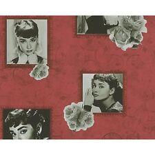 NEW AS CREATION AUDREY HEPBURN LUXURY ROSE METALLIC TEXTURED WALLPAPER 95890-1