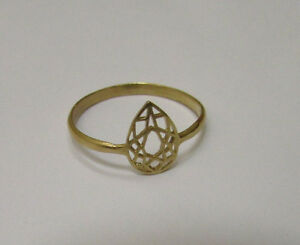 Geometric Design Gold Filled Stacking Ring! Diamond Shape with Thin Band Pretty!