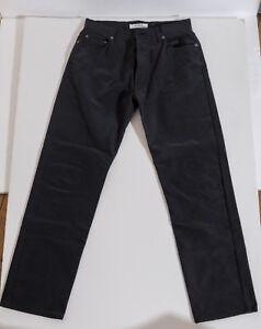 Vintage John Richmond Black Rubberized Mens Jeans