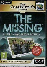 THE MISSING: A SEARCH AND RESCUE MYSTERY Hidden Object PC Game CD-ROM NEW