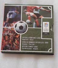 Belgique Pays-Bas Coffret Set Officiel UEFA Euro 2000 Football + Medaille