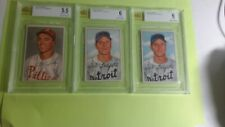 LOT OF 3 1952 BOWMAN BVG CARDS LITCHFIELD & SIMMONS