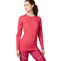 Helly Hansen Womens HH Lifa Crew Top Pink Sports Outdoors Running Warm