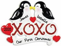 Personalized XOXO OUR 1ST CHRISTMAS Hanging Tree Ornament HOLIDAY GIFT 2020