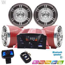 UTV ATV Anti~Theft Speakers USB Audio System Stereo Bluetooth Motor Remote sRed