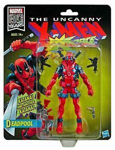 Exclusive 80th Anni X-Men X-Force Retro Marvel Legends Deadpool Action Figure