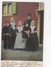 Zeeland Walchgrasche Boeernfamilie Netherlands 1906 Postcard 616a