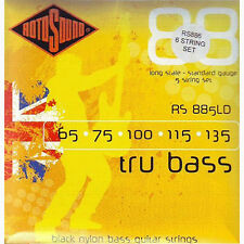 Rotosound RS886LD 6-String Tru Bass Nylon Flatwound Bass Guitar Strings (50-135)