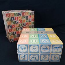 Sealed Uncle Goose 28 Wood Embossed Classic Abc Blocks Made in Usa