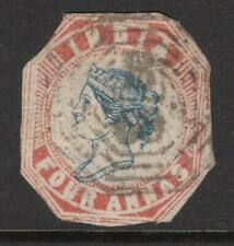 INDIA 1854  4 annas  Excellent Looking   Cut to Shape  Fine Used see description
