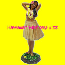 NEW! ~ LEILANI - POSING (NATURAL SKIRT) HAWAIIAN HULA DASHBOARD DOLL! ~ 7 INCH