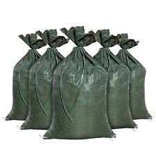 """Military Style OD Heavy Duty Sandbag Sand Bags - 26"""" x 14"""" Sandbags Poly Bags"""
