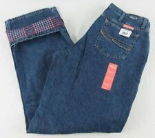 Womens As Real As Wrangler Flannel Lined Jeans Relaxed Fit WRW85NW Size 10 x 32