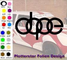 Dope Schrift nr2 JDM Sticker Aufkleber OEM Power fun like Shocker Winter
