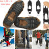 Ice Grip Snow Anti Slip On Over Shoe Boot 24Teeth Crampons Cleat Spikes Gripper