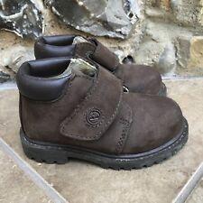Kids Boys Timberland Leather Boots Shoes UK 5 EU 22 Dark Brown Strap Waterproof