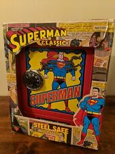 Superman Steel Safe with Alarm 2001 Schylling New in Box