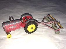 Vintage Dinky Toys Farm Massey Harris Tractor & Disc Harrow 322 Spares Repairs